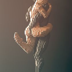 A sculpture from <em>Beautiful Minecraft</em>