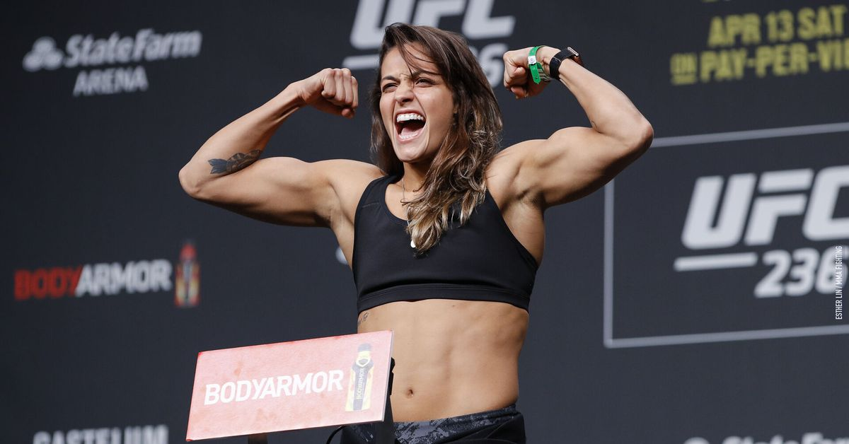 'Healthier' as a flyweight, Poliana Botelho is down to fight once a month for the UFC