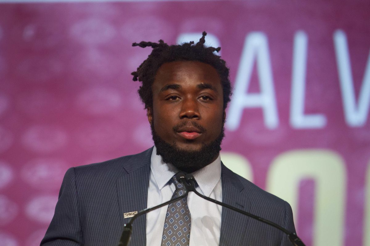 Dalvin looking on at the ACC Media Day