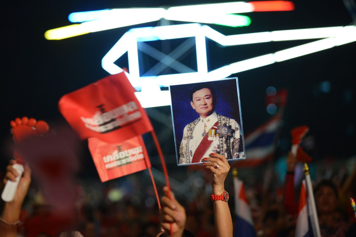 Red Shirt Supporters Rally In Favour Of Democratically Elected Government