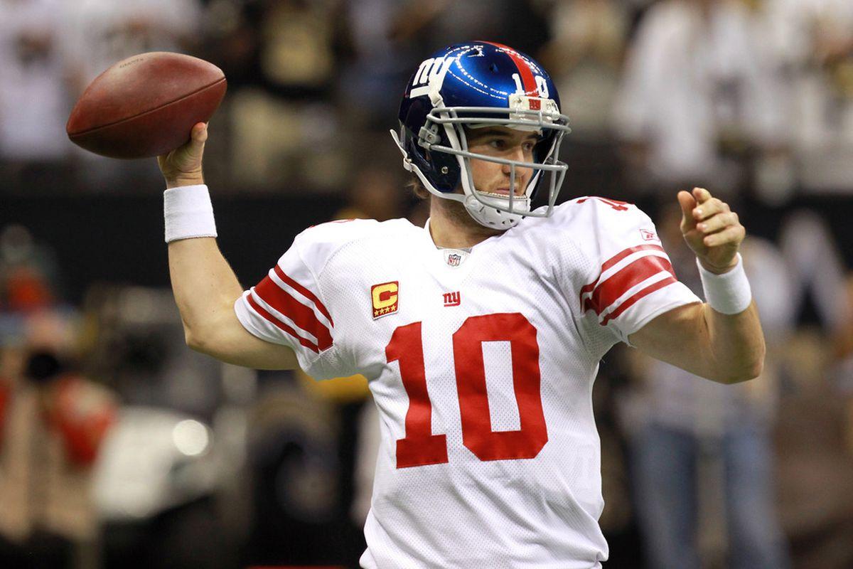 Eli Manning.  (Photo by Ronald Martinez/Getty Images)