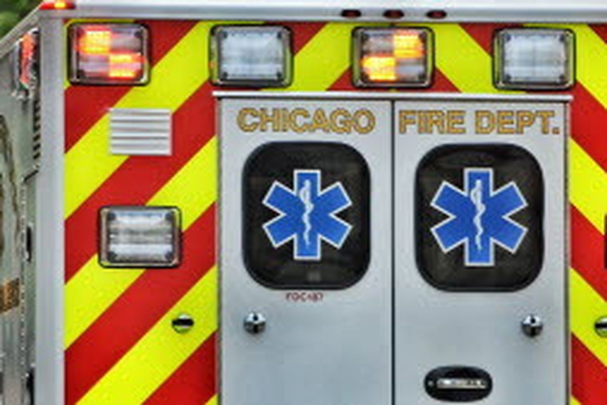 Five people were hospitalized after a two vehicle crash in Portage Park Jan. 4, 2020.