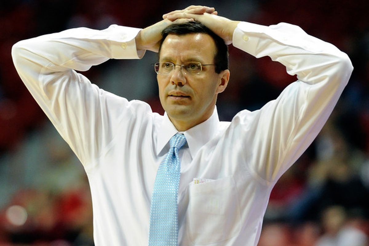 Will this be a common sight for new coach Tim Miles this season?  Can he bring this down program back to life?  (Photo by Ethan Miller/Getty Images)