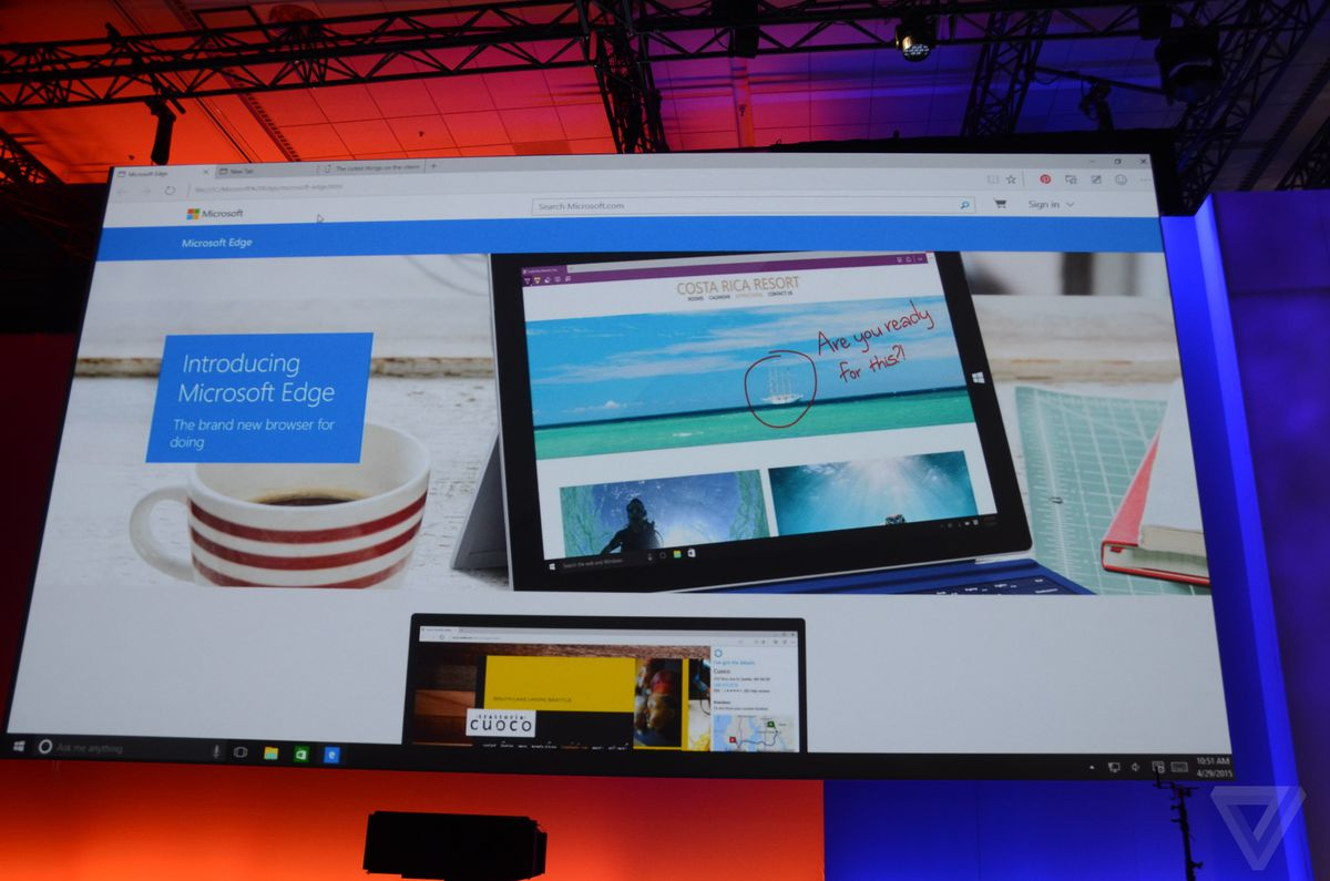 This is Microsoft Edge, the replacement for Internet Explorer - The