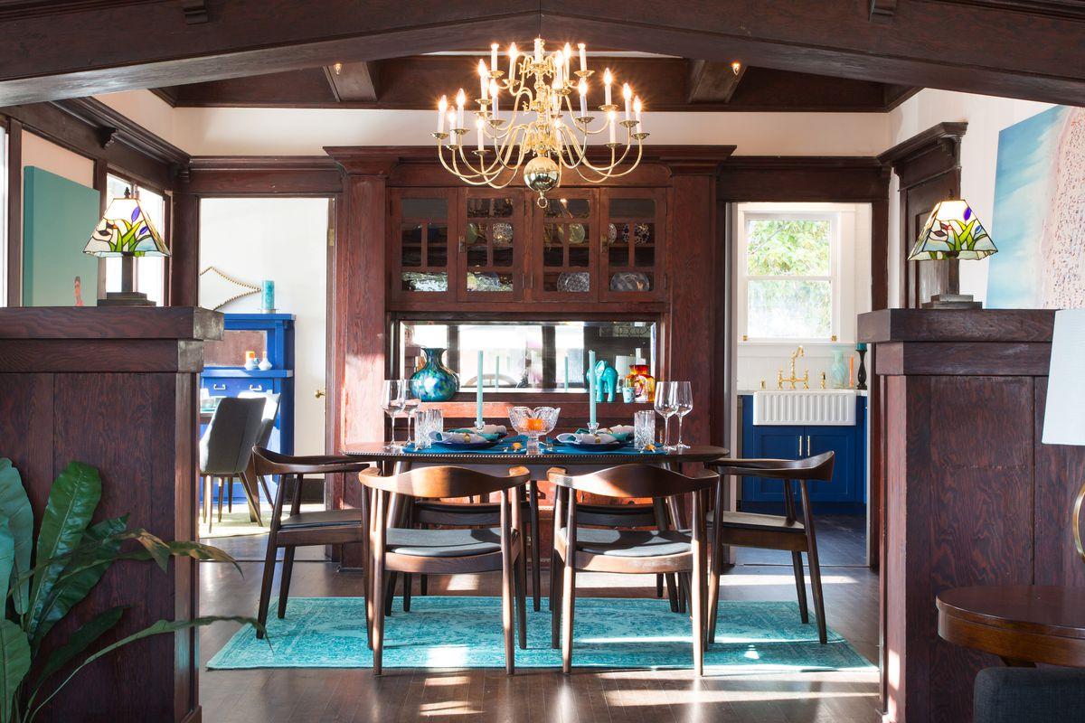 reinvigorated 1912 craftsman with cobalt blue kitchen asks 664k courtesy of dino buiatti nationwide real estate executives