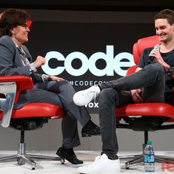 """Snap CEO Evan Spiegel joined Kara Swisher in a conversation to talk about Snap's controversial redesign and the company's culture. """"Facebook can copy our features, but our values are hard to copy,"""" he said. Watch the full video <a href=""""https://www.recode.net/2018/5/30/17397120/snap-ceo-evan-spiegel-transcript-code-2018"""">here</a>."""