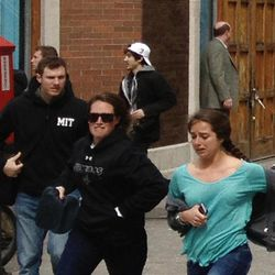 A man who was dubbed Suspect No. 2 in the Boston Marathon bombings is seen in a white ballcap after the blasts.