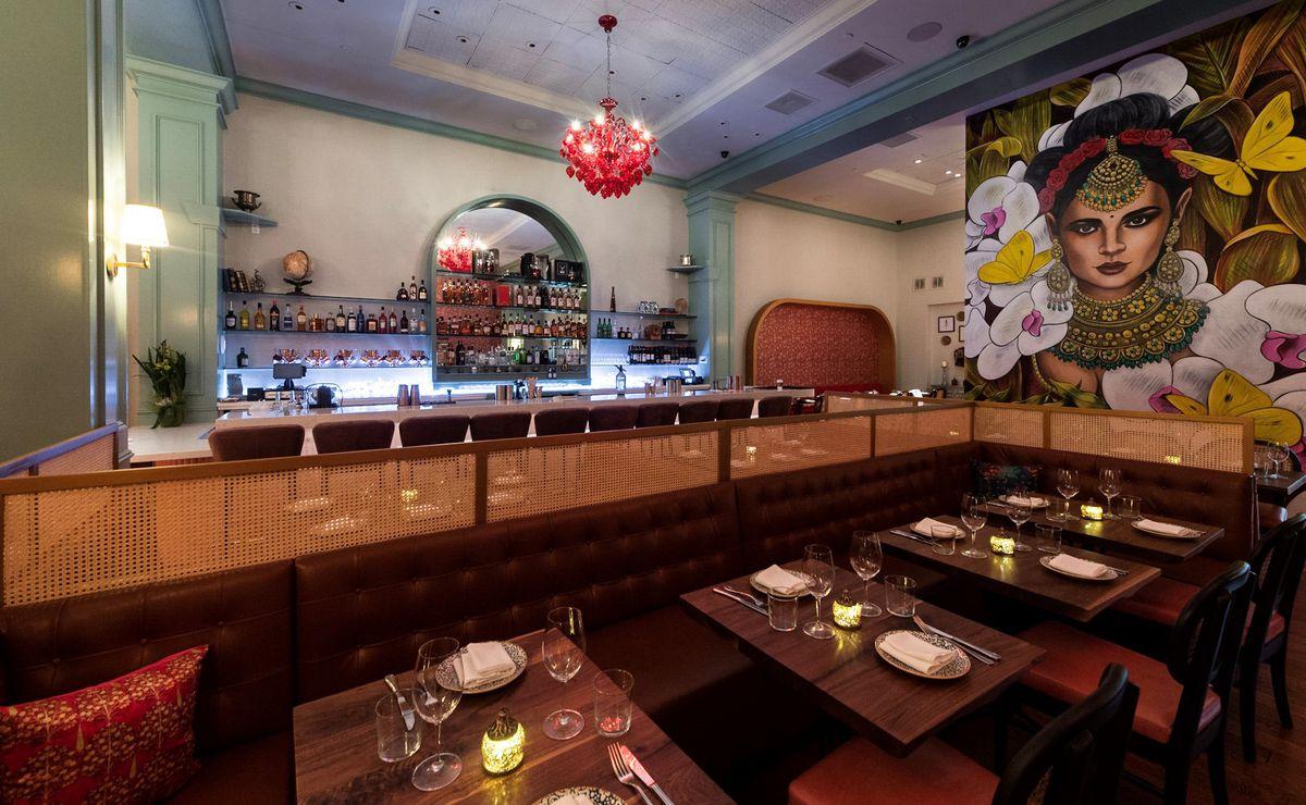 Dining room at Rooh Palo Alto