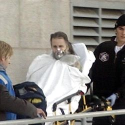 Brian David Mitchell taken to hospital after suffering