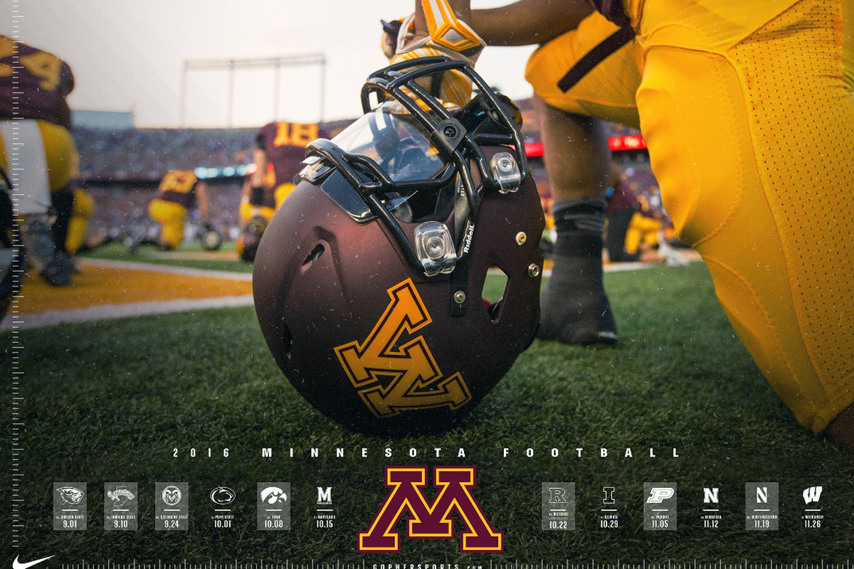 ranking minnesota football's schedule posters for 2016 - the daily