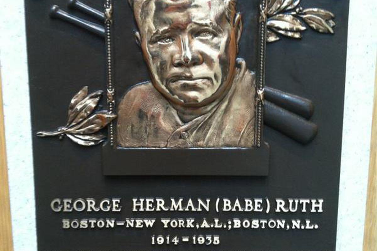 Babe Ruth was fairly good at hitting baseballs.