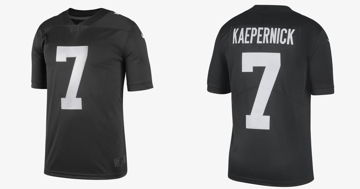 sports shoes f83f1 93b6b Colin Kaepernick, Nike unveil new black jersey following NFL ...