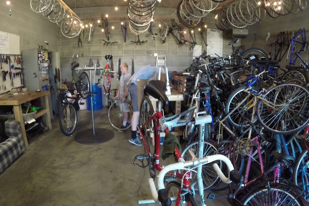 FILE - The Provo Bicycle Collective has hundreds of bikes people can work on. When they fix a bike, they have the option to buy it at a discount. In Provo, Wednesday, June 1, 2016.