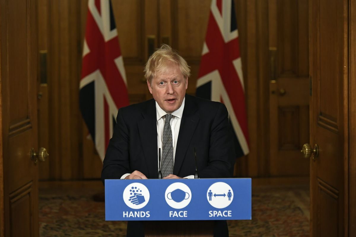 British PM Holds Press Conference As England Heads Toward New Lockdown