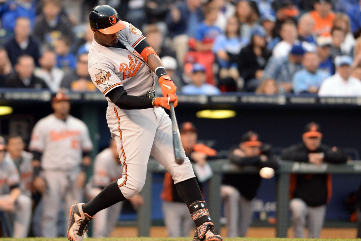 Adam Jones had a single in the 7th. It was the Orioles first hit of the game.