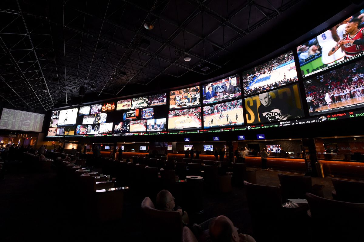 LAS VEGAS, NV - FEBRUARY 02: A general view shows the Race & Sports SuperBook at the Westgate Las Vegas Resort & Casino on February 2, 2016 in Las Vegas, Nevada. The newly renovated sports book, currently offering nearly 400 proposition bets for Supe