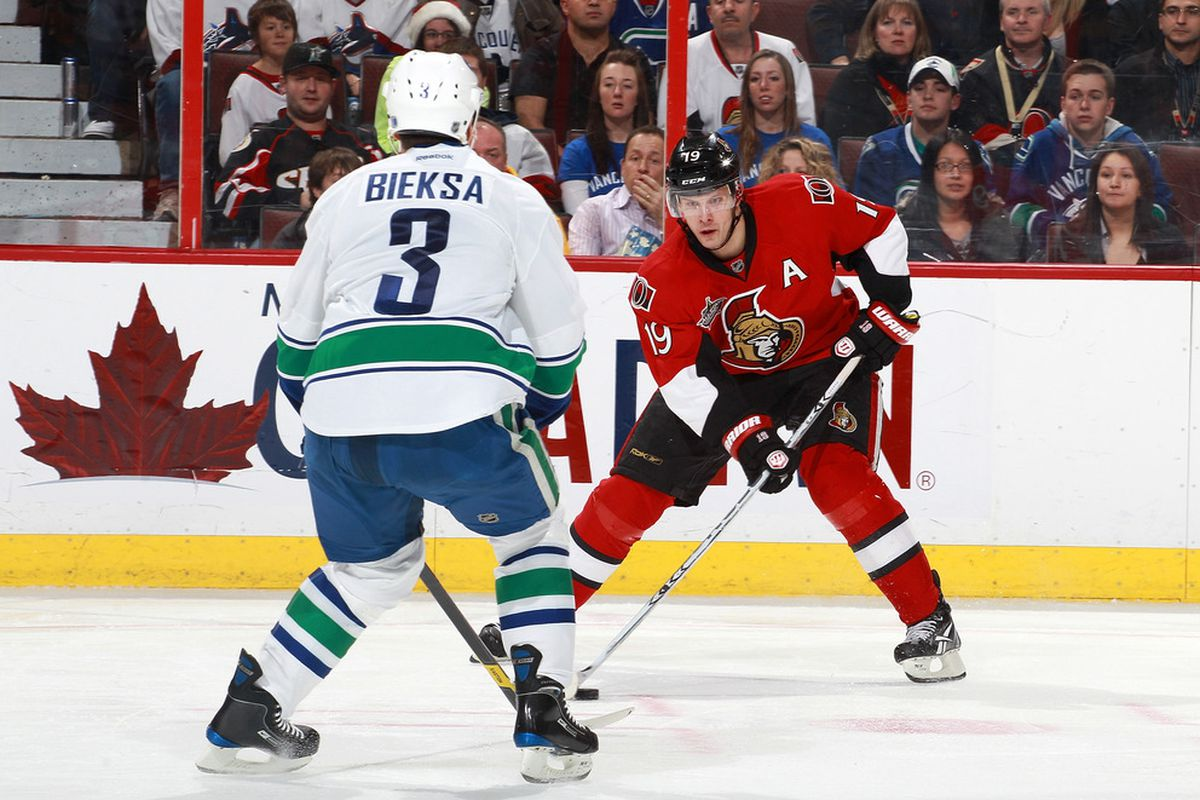 Jason Spezza is going to be key if the Senators are to have success this week. (Photo by Jana Chytilova/Freestyle Photography/Getty Images)
