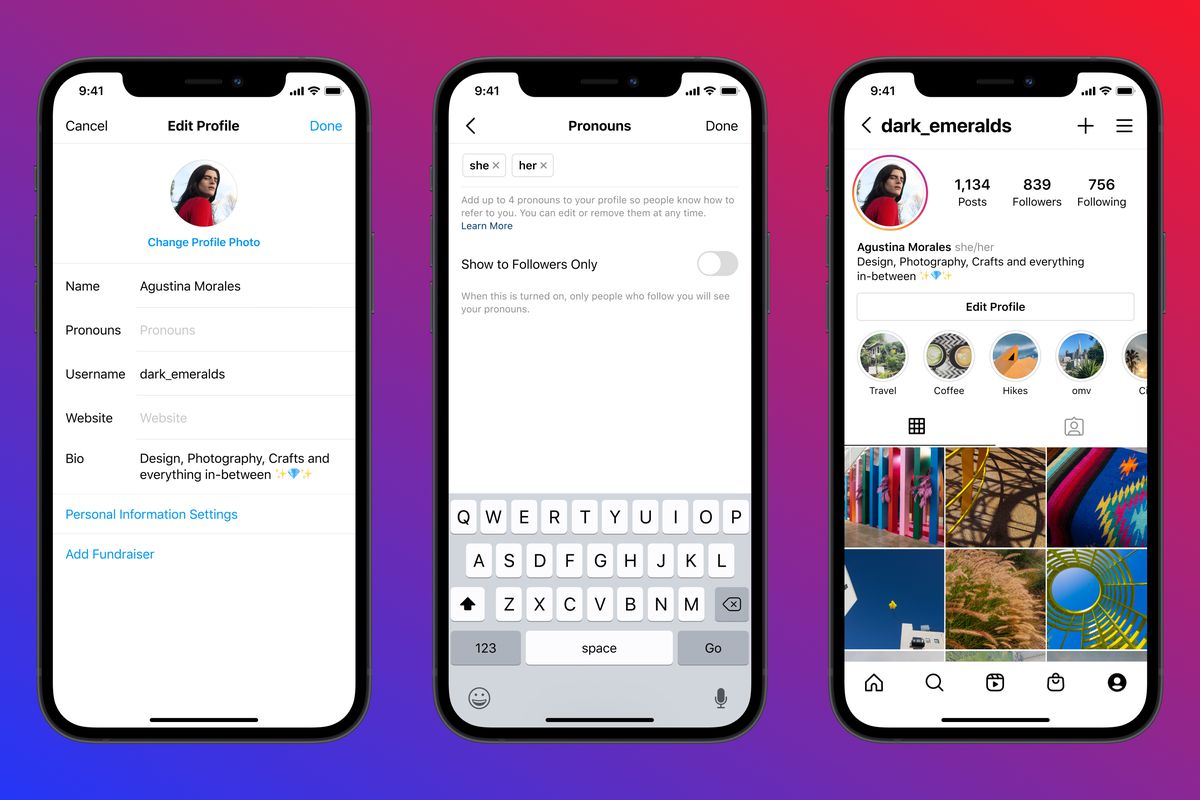 Instagram will let people list their pronouns on their profiles - The Verge