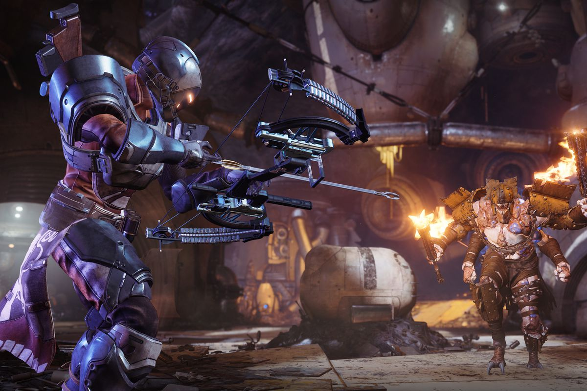 Destiny 2: Forsaken - Titan aiming bow at a Scorn in Gambit