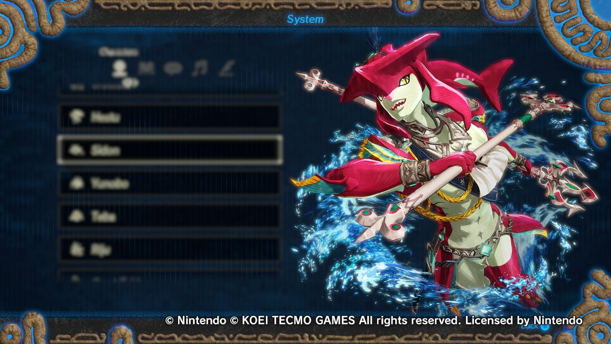 Sidon from Hyrule Warriors: Age of Calamity