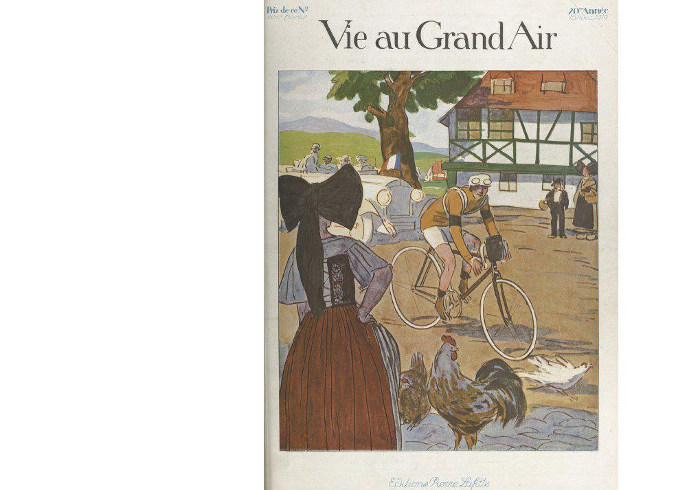 The cover of 'La Vie au Grand Air,'