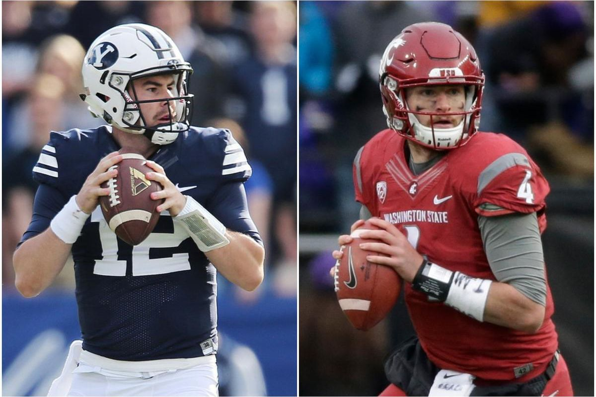 Matt Brown of Sports on Earth ranked the top college quarterbacks heading into the 2017 season. BYU signal caller Tanner Mangum, left, made the list at No. 24, while Washington State's Luke Falk, a Logan High product, was No. 10.