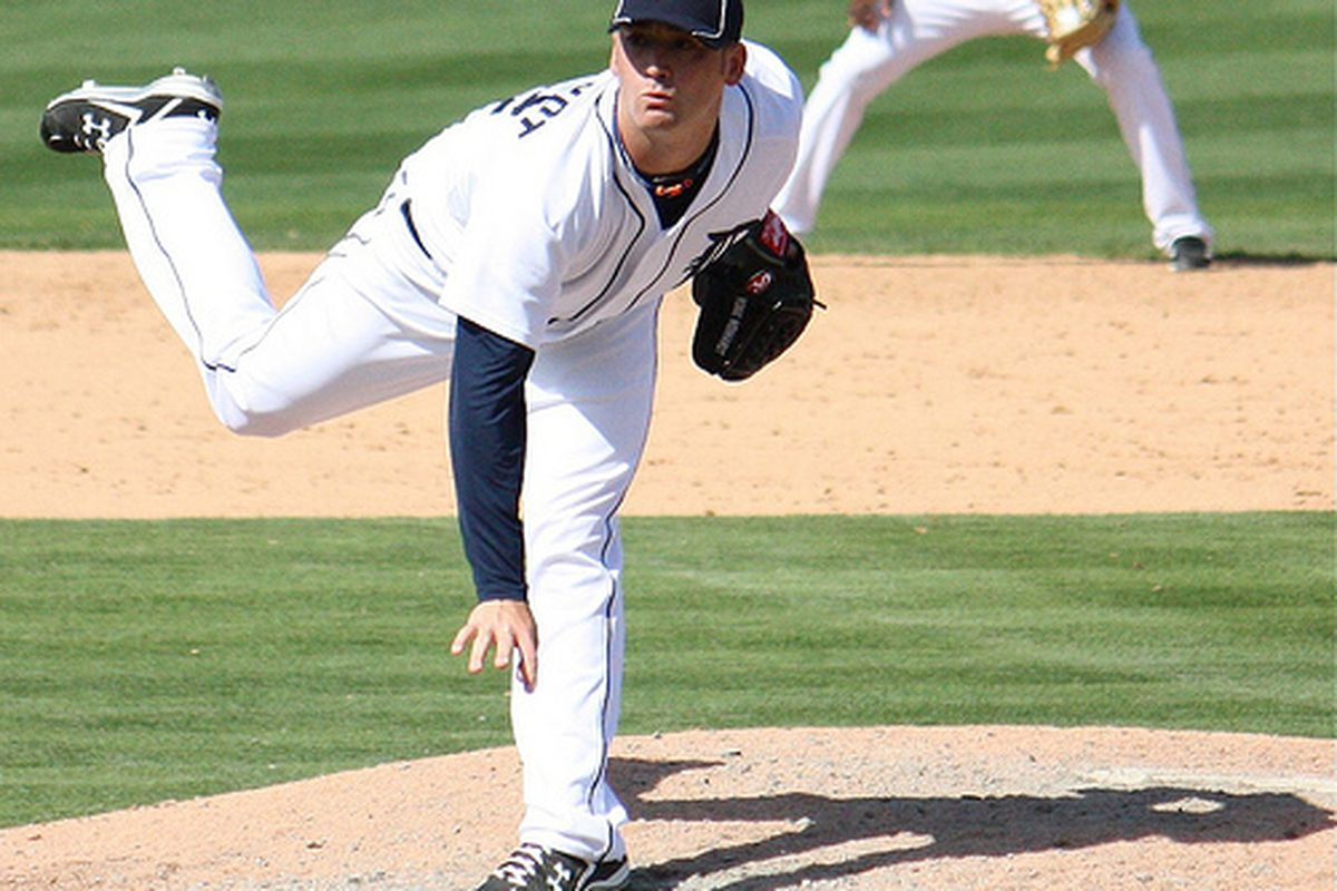 Right-hander Robbie Weinhardt has received his callup from the Detroit Tigers. He's seen during spring training in this photo by our own Allikazoo.
