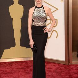 Anne Hathaway went all out fierce in Gucci from head to toe, found at the Shops at Crystals.