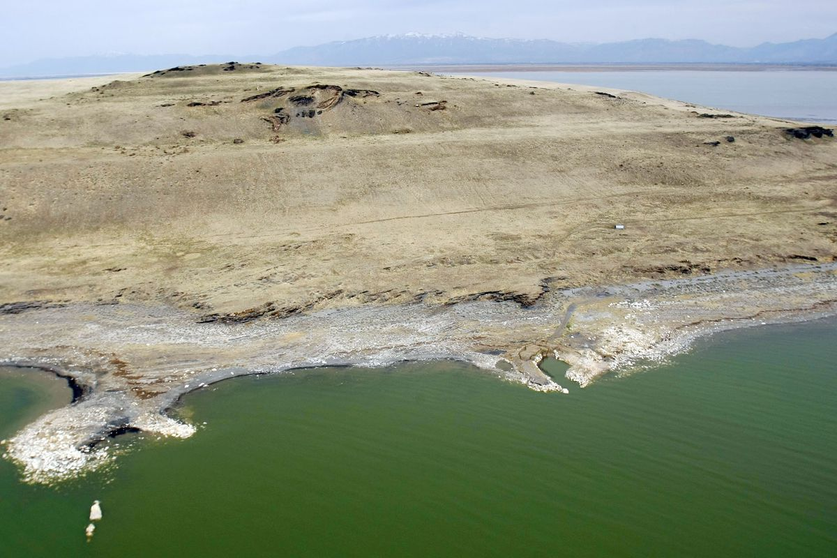 Fremont Island is pictured in 2012. The Great Salt Lake's third largest island will be preserved in its natural state after being sold to an undisclosed nonprofit organization.