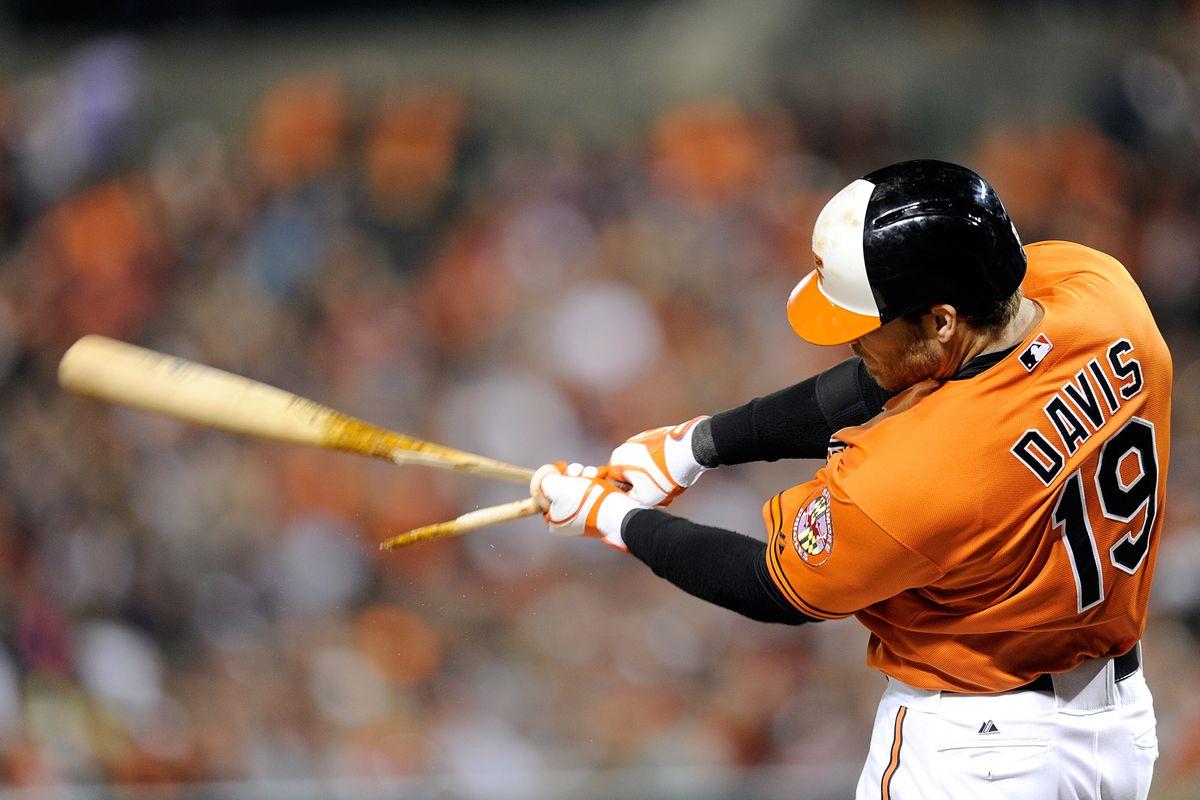 Remember when Davis hit that HR off a broken bat? That was cool.