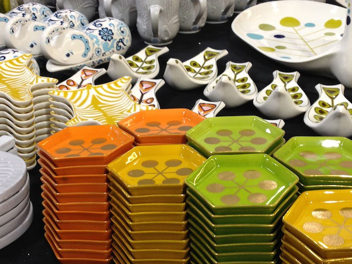 Psychedelic home goods at the Jonathan Adler sample sale