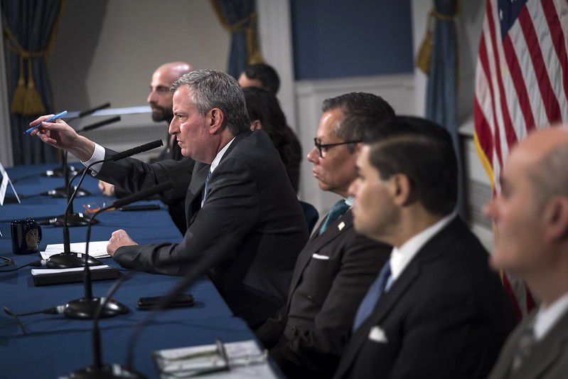 Mayor Bill de Blasio is joined by health officials and Chancellor Richard Carranza for an update on the coronavirus.