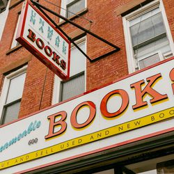 """<b>↑</b> Take a break from pounding the pavement and settle into a corner at <b><a href=""""http://unnameablebooks.blogspot.com/"""">Unnameable Books</a></b> (600 Vanderbilt Avenue) with a good, hard-to-find read. Packed with stacks and stacks of books for fans"""