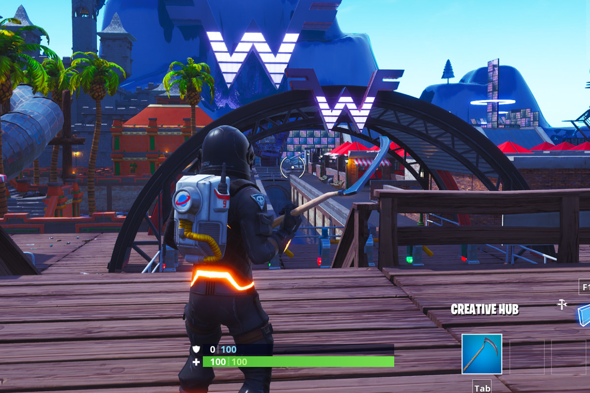 a weezer themed island has appeared in fortnite for some reason - image fortnite