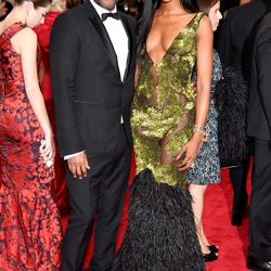 Lee Daniels and Naomi Campbell in Burberry