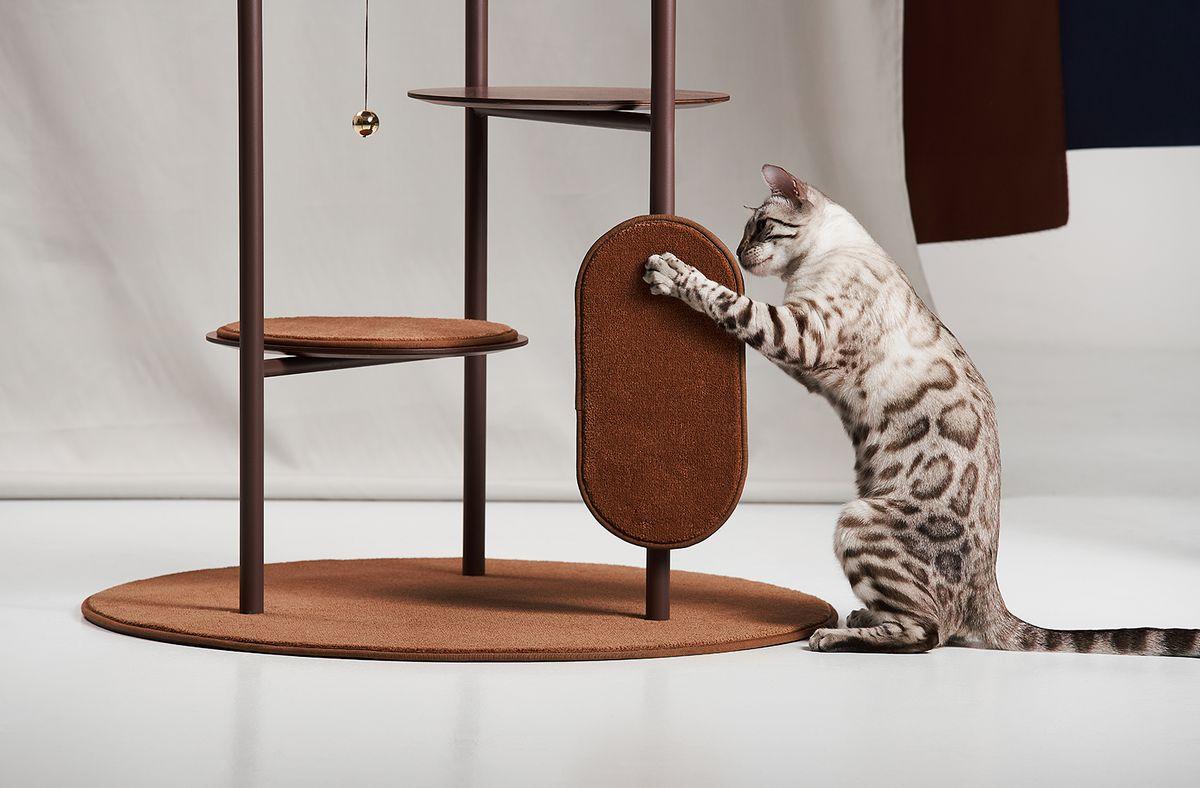 Cat Tree From Jiyoun Kim Embraces Sleek Flexible Design