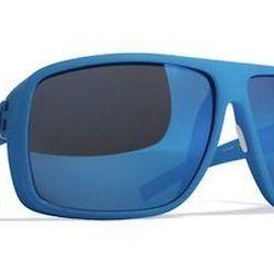 "<strong>Mykita Mylon</strong> Crison Sunglasses in Malibu Blue/Blue Sky Flash, <a href=""http://mylon.mykita.com/articles/index/mykita-mylon#crison"">$549</a>"