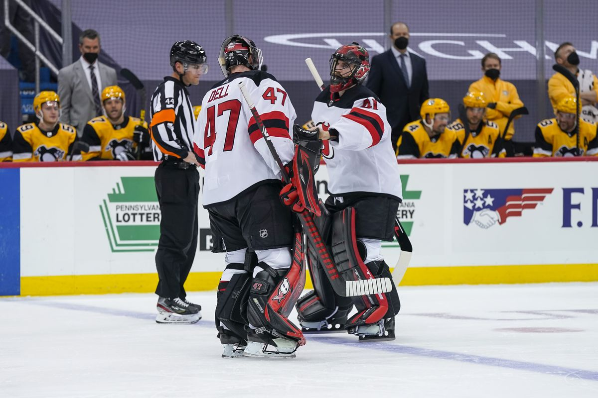 NHL: APR 22 Devils at Penguins - Scott Wedgewood replaces Aaron Dell