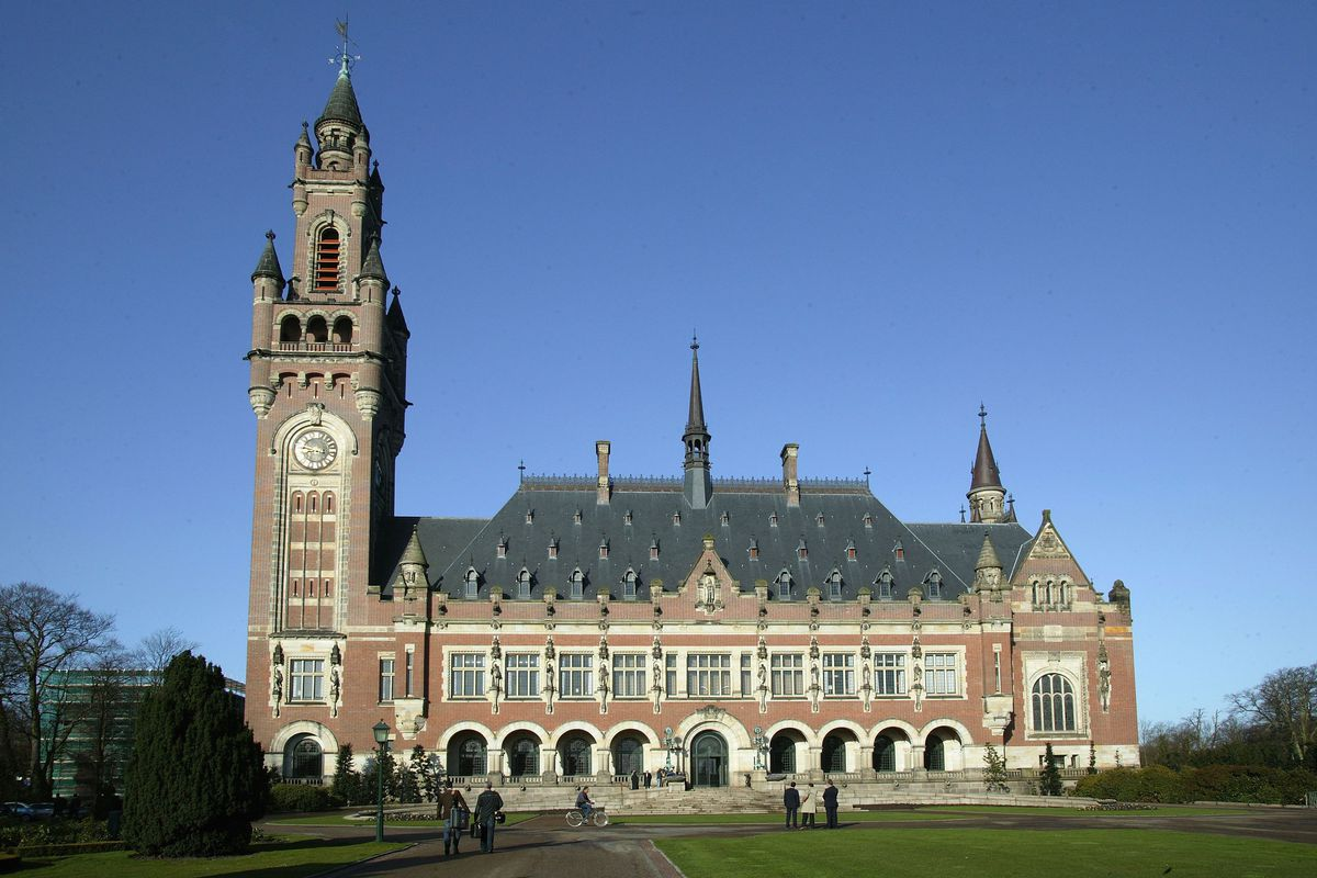 """The International Court of Justice, pictured here in the Hague, Netherlands, ruled on October 3, 2018 that the US should lift some of its sanctions on Iran for """"humanitarian"""" reasons."""