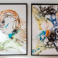 David Coffin blown water color original artwork, $1350 framed