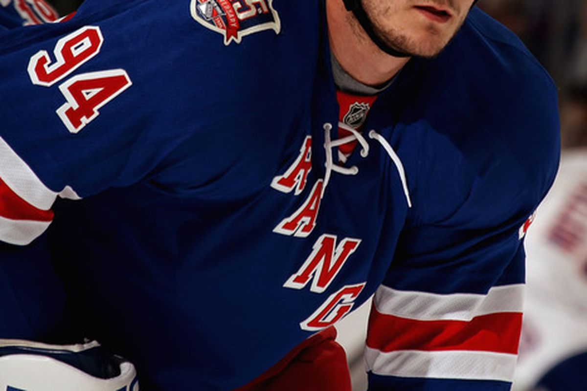 Derek Boogaard, New York Rangers forward/enforcer, was found dead in his apartment Friday. He was 28 years old. (Photo by Bruce Bennett/Getty Images)