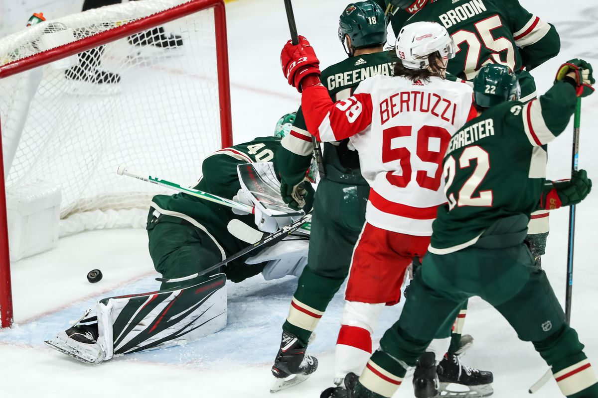 NHL: Detroit Red Wings at Minnesota Wild