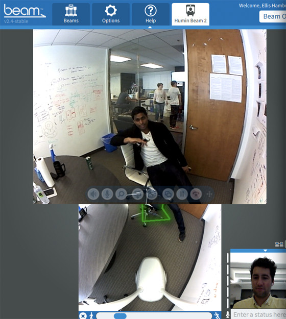 beam with ankur chain telepresence
