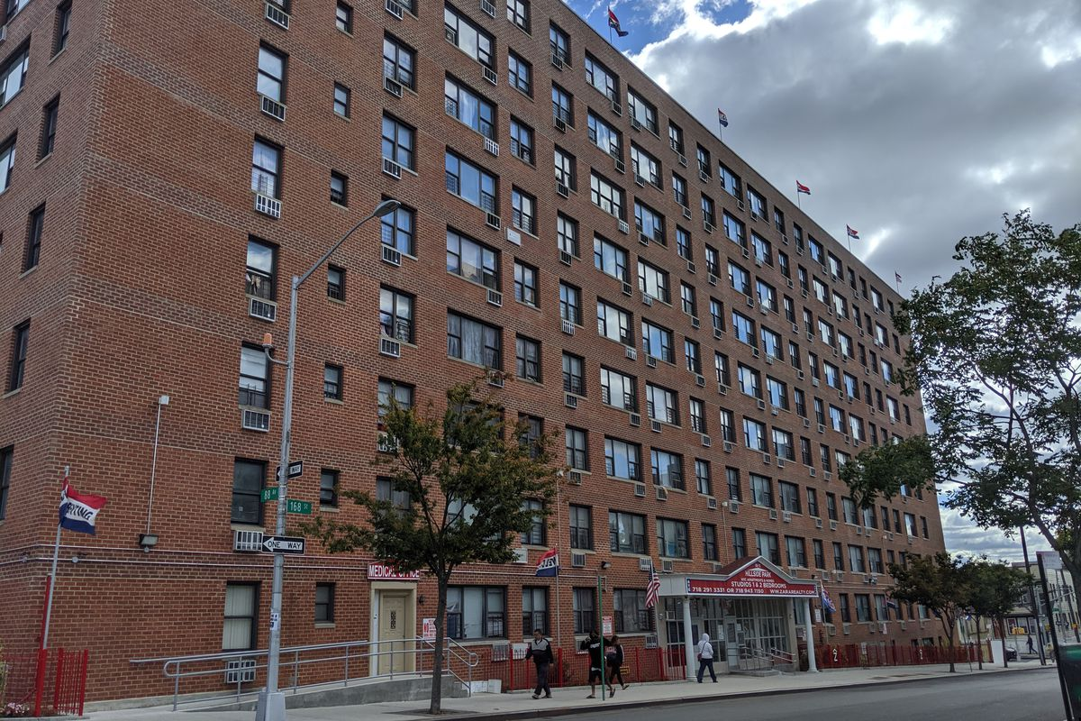 Some tenants at this building on 168th Street in Jamaica are facing eviction.
