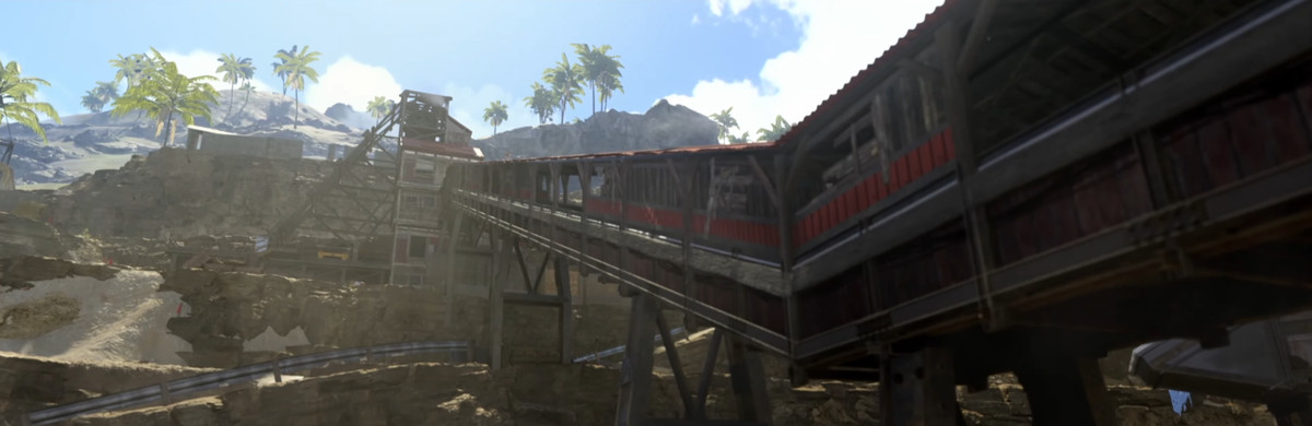 An abandoned mine from Call of Duty: Warzone's new Pacific island map