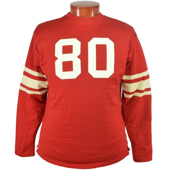 A red and white cotton football Jersey