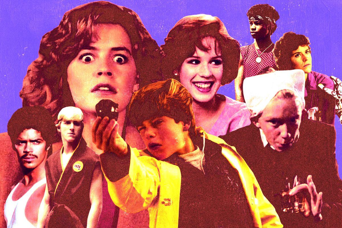 Collage of '80s movie stars