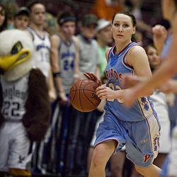 Pitue's Kandice Gleave as Piute High School defeats Duchesne High School  68-34 in the 1A state girls basketball championship game in Richfield, Utah on Saturday, Feb., 20, 2010.  Mike Terry, Deseret News