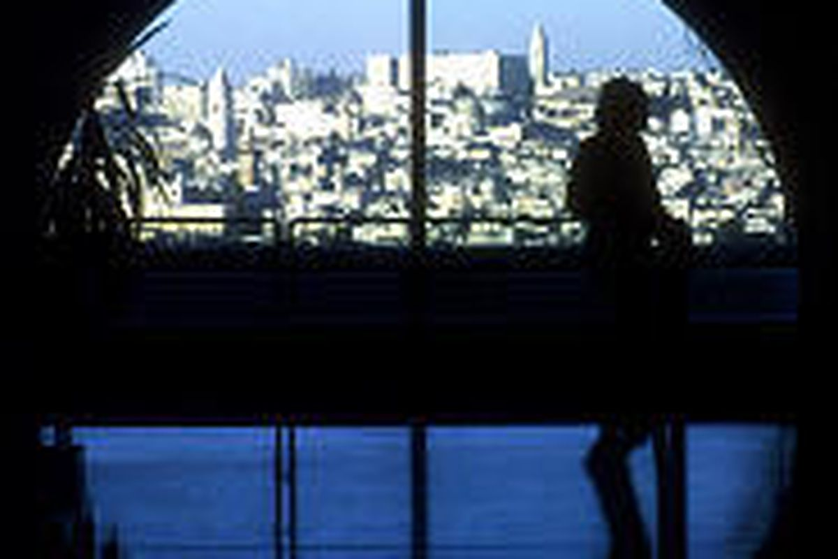 Jerusalem is seen from a window of the Jerusalem Center, which opened in 1987 but hasn't been used for classes since 2000.