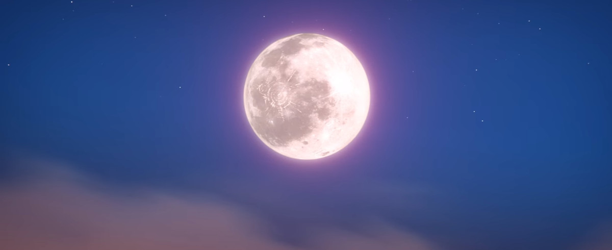 The moon shows up quietly at the end of Hero.